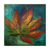 Blue Leaf I Giclee Print by Patricia Pinto