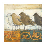 Birds on Damask I Giclee Print by Patricia Quintero-Pinto