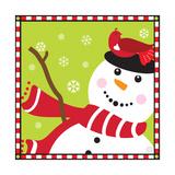 Snowman II Premium Giclee Print by Donna Slade