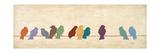 Fugletræf Premium Giclée-tryk af Patricia Quintero-Pinto