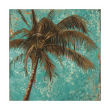 Palm on Turquoise I Giclee Print by Patricia Quintero-Pinto