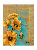 Golden Artistic Poppy I Premium Giclee Print by Patricia Quintero-Pinto
