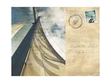Voyage Postcard II Giclee Print by Susan Bryant