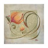 Ornaments in Peach I Giclee Print by Patricia Quintero-Pinto
