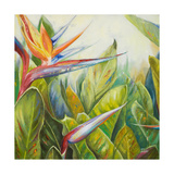 Pájaro del paraíso II Lámina giclée prémium por Patricia Quintero-Pinto
