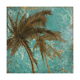 Palm on Turquoise II Giclee Print by Patricia Quintero-Pinto