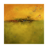 Green Sunset Premium Giclee Print by Patricia Quintero-Pinto