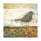 Birds on Damask II Giclee Print by Patricia Quintero-Pinto