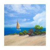 Sailboat on Coast I Premium Giclee Print by Vivien Rhyan