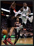 Portland Trail Blazers v Boston Celtics: Nate Robinson and LaMarcus Aldridge Art by  Elsa