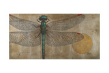Dragonfly on Silver Premium Giclee Print by Patricia Quintero-Pinto