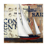 Blue Sailing Race II Premium Giclee Print by Patricia Quintero-Pinto