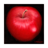 Red Apple Giclee Print by Nelly Arenas