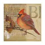 Red Love Birds I Reproduction giclée Premium par Patricia Quintero-Pinto