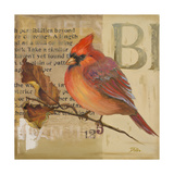 Red Love Birds I Premium Giclee Print by Patricia Quintero-Pinto