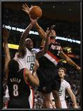 Portland Trail Blazers v Boston Celtics: Marquis Daniels, Marcus Camby and Patrick Mills Posters by  Elsa