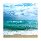 Teal Surf II Premium Giclee Print by Nicholas Biscardi
