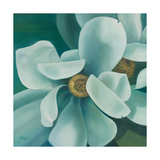 Twin Magnolia Giclee Print by Vivien Rhyan
