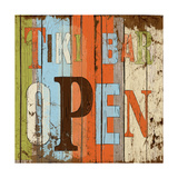 Tiki Bar Open Poster by Elizabeth Medley