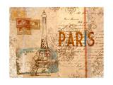 Paris Postcard Premium Giclee Print