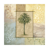 Palm Woodcut II Premium Giclee Print by Michael Marcon