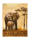 Lusaka Giclee-tryk i høj kvalitet af Patricia Quintero-Pinto