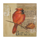 Red Love Birds II Premium Giclee Print by Patricia Quintero-Pinto