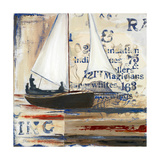 Blue Sailing Race I Premium Giclee Print by Patricia Quintero-Pinto