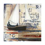 Blue Sailing Race I Premium Giclee Print by Patricia Quintero-Pinto
