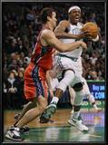 New Jersey Nets v Boston Celtics: Paul Pierce and Kris Humphries Posters by  Elsa