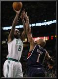 Atlanta Hawks v Boston Celtics: Marquis Daniels and Maurice Evans Print by  Elsa