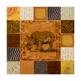 African Collage I Premium Giclee Print by Patricia Quintero-Pinto