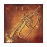 Blues Giclee-tryk i høj kvalitet af Hakimipour-ritter