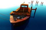 Boat III Fotografisk tryk af Ynon Mabat