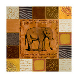 African Collage II Giclee Print by Patricia Pinto