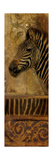 Elegant Safari Panel I (Zebra) Premium Giclee Print by Patricia Quintero-Pinto