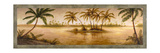 Golden Tropics I Premium Giclee Print by Michael Marcon