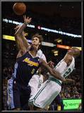 Denver Nuggets v Boston Celtics: J.R. Smith, Semih Erden and Ray Allen Prints by  Elsa
