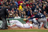 Apr 4, 2014, Milwaukee Brewers vs Boston Red Sox - Grady Sizemore, Jonathan Lucroy Photographic Print by Winslow Townson