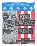 Rob Zombie & Korn Serigraph by  Print Mafia