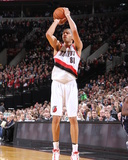 Feb 11, 2014, Oklahoma City Thunder vs Portland Trail Blazers - Nicolas Batum Photographic Print by Sam Forencich