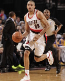 Mar 16, 2014, Golden State Warriors vs Portland Trail Blazers - Nicolas Batum Photographic Print by Cameron Browne