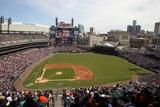 Apr 6, 2014: Detroit, MI - Baltimore Orioles vs Detroit Tigers - Comercia Park Photographic Print by John Grieshop