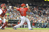 Apr 22, 2014, Los Angeles Angels vs Washington Nationals - Albert Pujols Photographic Print by Mitchell Layton