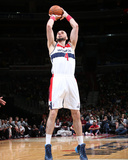 Mar 15, 2014, Brooklyn Nets vs Washington Wizards - Marcin Gortat Photographic Print by Ned Dishman