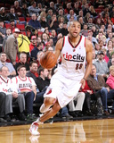 Feb 19, 2014, San Antonio Spurs vs Portland Trail Blazers - Nicolas Batum Photographic Print by Sam Forencich