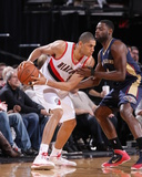Apr 6, 2014, New Orleans Pelicans vs Portland Trail Blazers - Nicolas Batum Photographic Print by Sam Forencich