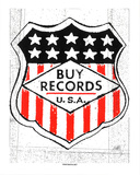 Buy Records Serigraph by  Print Mafia