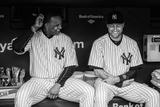 Apr 7, 2014, Baltimore Orioles vs New York Yankees - Derek Jeter, CC Sabathia Fotografisk tryk af Rob Tringali