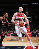 Apr 14, 2014, Miami Heat vs Washington Wizards - Marcin Gortat Photographic Print by Ned Dishman